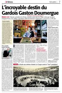 Dossier Gaston Doumergue et CODA 2013 - page 1 - Midi Libre du 3/1/2013